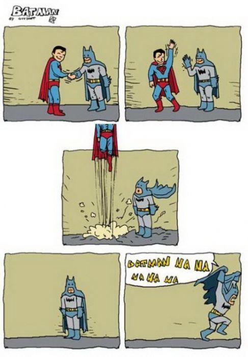 Чем бэтмен отличается от супермена