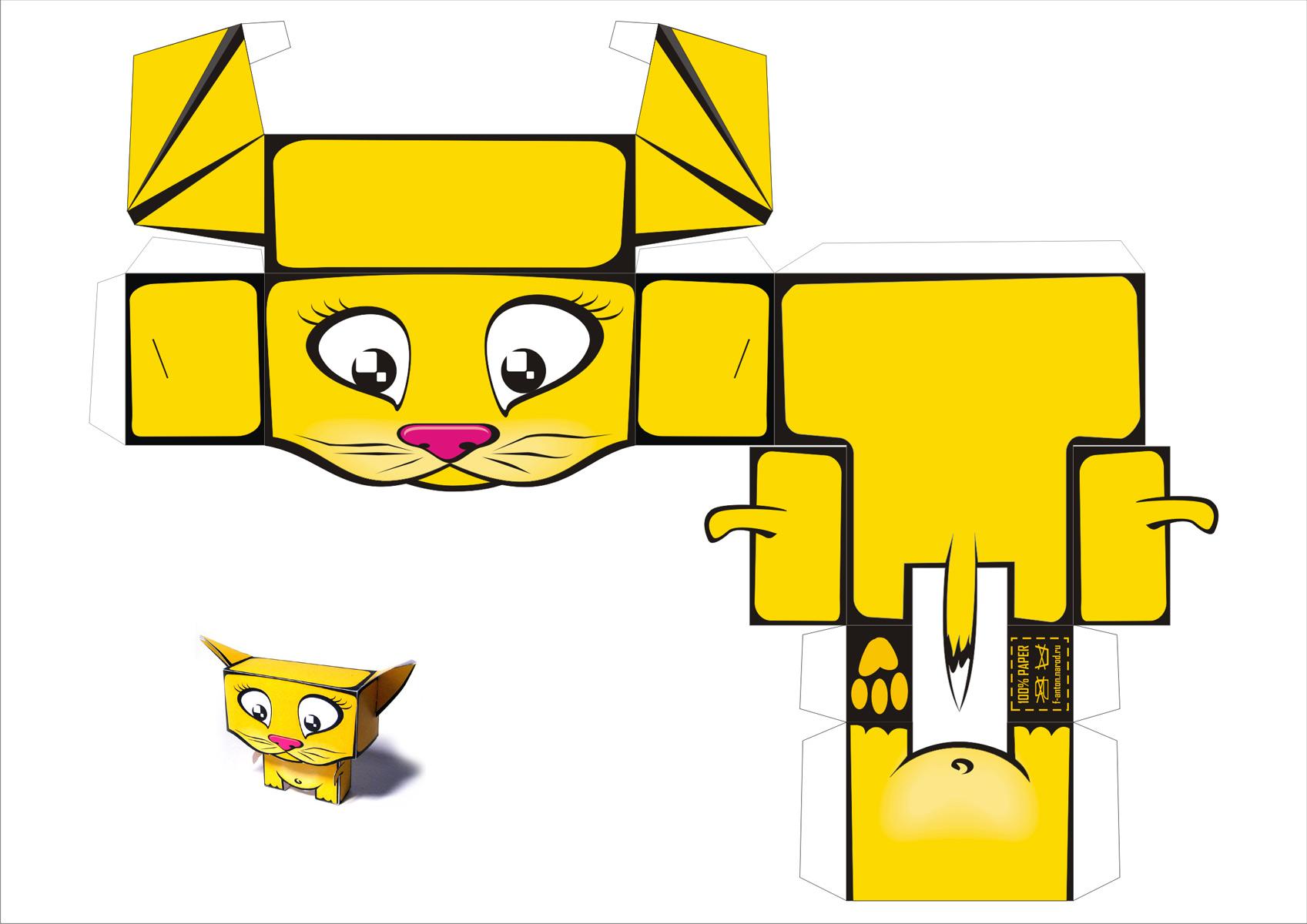 Как сделать игрушку для котенка из бумаги